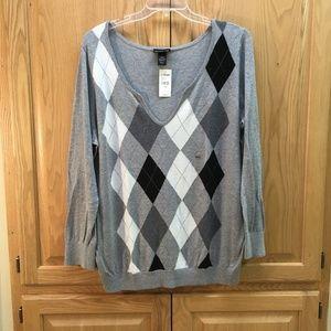 Lane Bryant Argyle sweater - NWT